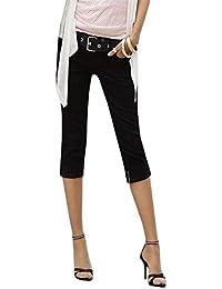 Jeans Skinny Femmes Pantalons Corsaires Denim Fit Slim Léger Chic Jeune  Couleurs Unies avec Poches Boutons d37eba4db87