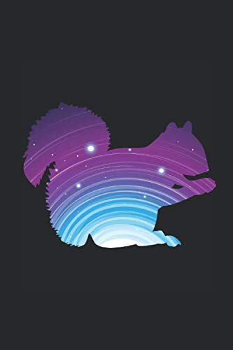 Wild-tier-silhouette (Squirrel Galactic SIlhouette: Squirrels Notebook, Blank Lined (6