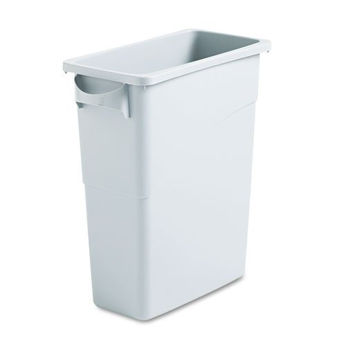 slim-jim-waste-container-w-handles-rectangular-plastic-15-7-8-gal-light-gray-by-rubbermaid