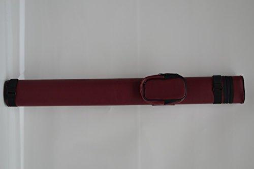 Billard Queue Tasche Köcher rot für 1 Unterteil / 1 Oberteil