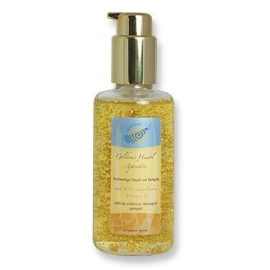Goldenes gesichtsöl exclusivo aceite Aphrodite hojas