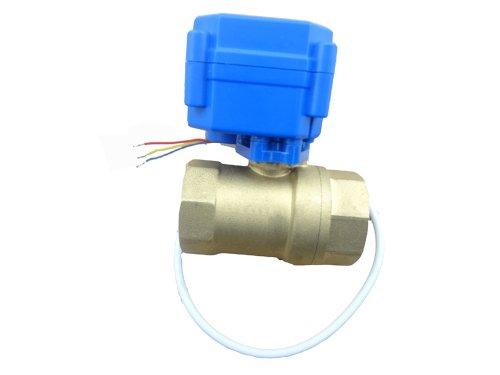 "MISOL 1pcs of Motorized ball valve brass, G1/2"" DN15, 2 way, CR02, electrical valve/valvola a sfera motorizzata/elettrovalvola/valvola a sfera elettrica/valvola motorizzata"