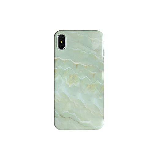 GFLD Hülle iPhone iPhone XS max-Handytasche aus gestreiftem Marmor für 78plus All-Inclusive-Anti-Drop-Soft-Shell für Herren und Dame Shell Drop
