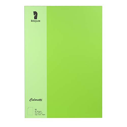 Rössler 220726522 Coloretti Briefpapier, 165g/m², DIN A4, 10 Blatt, hellgrün