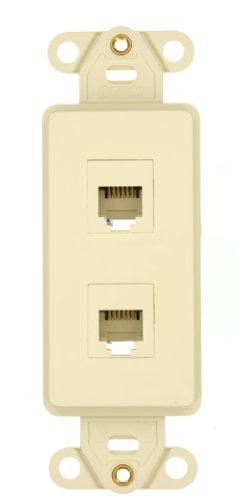 leviton-41666-i-decora-telephone-wallplate-insert-6p6c-x-6p6c-110-style-ivory