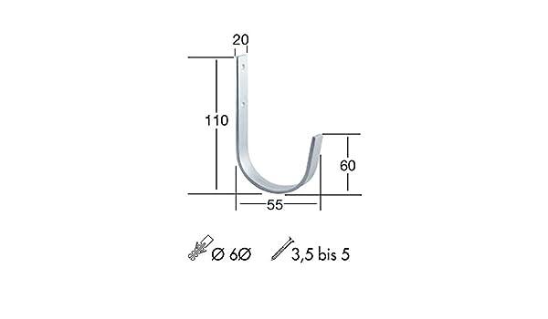 11040101 2/pezzi Sch/össmetall gancio da parete ferro forma a U 85/x 32/x 38/mm