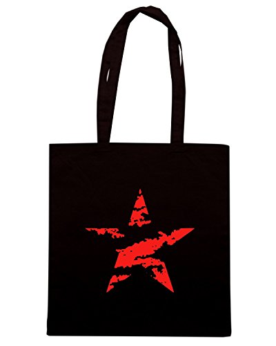 T-Shirtshock - Borsa Shopping OLDENG00521 grunge star Nero
