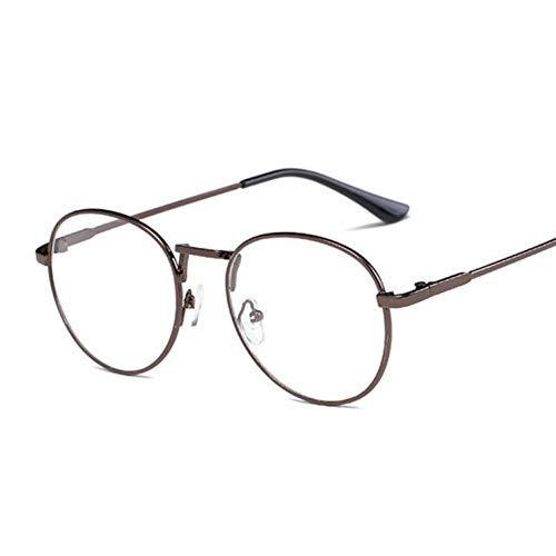Kjwsbb Retro Runde Brillengestell Für Frauen Kreis Metallrahmen Vintage Oval Brillen Klare Linse Brillen Unisex
