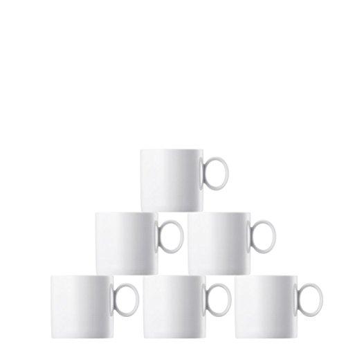 Thomas 11900-800001-29217 Loft Set 6 Becher mit Henkel 0,33 L, weiß (Becher Thomas)