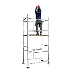 Classic 3.8m (WH) DIY Galvanised Scaffold Tower & Boards (12'6