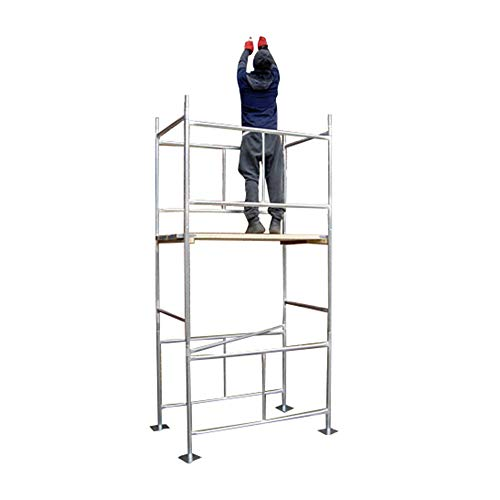 """Classic 3.8m (WH) DIY Galvanised Scaffold Tower & Boards (12'6"""" x 4' x 2'6 Base)"""