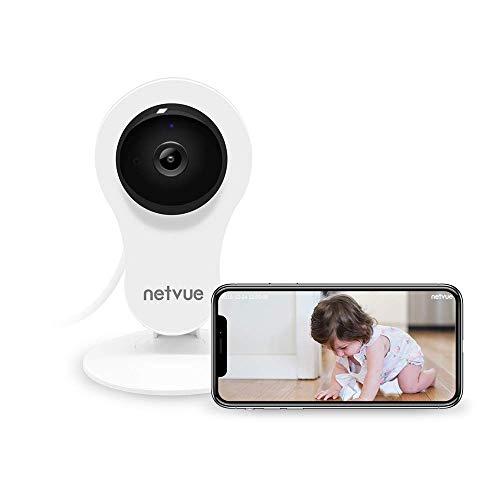 Telecamera di Sorveglianza Wifi, NETVUE 1080P Full HD IP Camera Senza Fili con Allarme Rilevazione di Movimento, Zoom 8X, Visione Notturna, Audio Bidirezionale, Videocamera Sorveglianza per Bambini