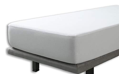 Velfont – Wasserdicht Matratzenauflage, 100% baumwollstrick/baumwolle   Atmungsaktiv – 180x200cm – verfügbar in verschiedenen Größen   Spannbettlaken   Spannbetttuch