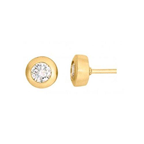 Goldene Magnetschmuck Ohrstecker 24k hartvergoldet Energetix 4you 462P mit funkelndem Swarovski...