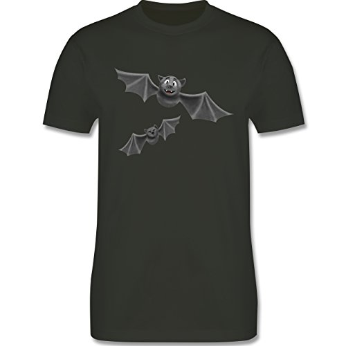 Halloween - süße Fledermäuse - Herren Premium T-Shirt Army Grün