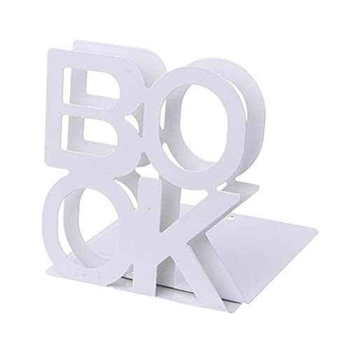 Metall Buchstütze, Kreative BUCH Brief Muster Buch Veranstalter für Regale Schreibtisch Büro Dekoration Studenten Geschenk 1 stücke - Brief Bücher