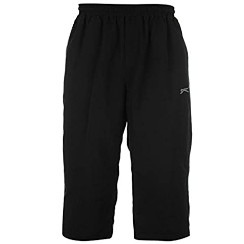 Slazenger Mens Three Quarter Jogging Bottoms Pants Trousers Sports Clothing Black XXXL