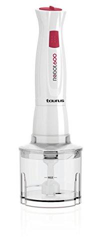 Taurus Robot 600 Batidora de Varilla, W, 1 Liter, 0 Decibeles, Plástico, 10 Velocidades, Blanco