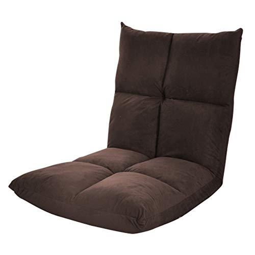 are 14-Position Boden Stuhl gepolsterte Gaming Chair, ideal zum Lesen Spiele Meditieren (Farbe : Kaffee - Farbe) ()