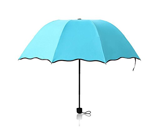Vi.yo interesante paraguas de viaje mágica plegable anti UV paraguas de sol para hombres mujeres y niños