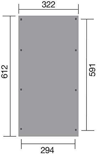 WEKA Gesamtaußenmaß Breite: 244 cm
