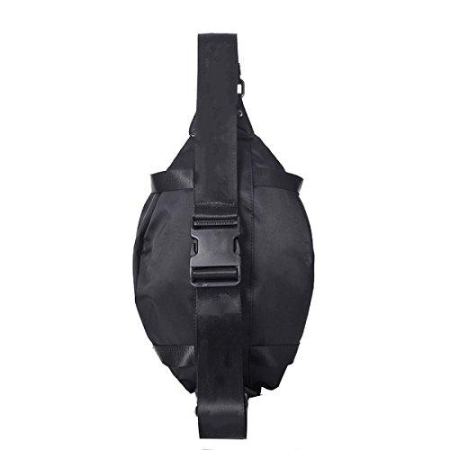 Yy.f Neue Beiläufige Brust Taschen Nylon-Reißverschluss Kurierbeutel Der Männer Schulterbeutel Große Kapazität Multifunktionale Praktische Innen Black
