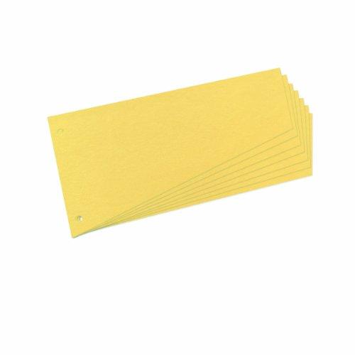 Preisvergleich Produktbild Herlitz 10838381 Trennstreifen Trapez 120x230 mm, Inh.100, gelb