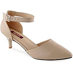 Shuz Touch Beige Pumps & Peeptoes (Size-39)