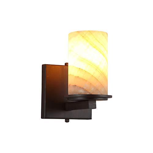 Preisvergleich Produktbild Amerikanischen Stil Rustikale vintage LED Marmor Schmiedeeisen Wandleuchte persönlichkeit Beleuchtung Wohnzimmer Lampe Nacht LED Hotel Gang Balkon Dekor Lichter, A