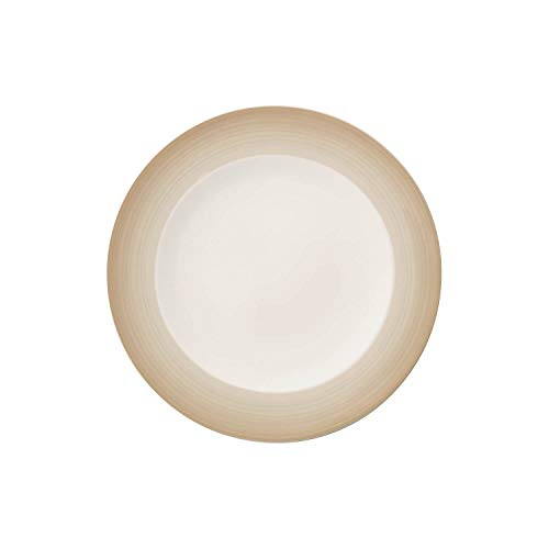 Villeroy & Boch Colourful Life Natural Cotton Assiette à dessert, 21,5 cm, Porcelaine Premium, Blanc/Beige