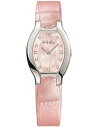 Ebel Women's Pink Leather Band Steel Case Swiss Quartz MOP Dial Watch 1216246