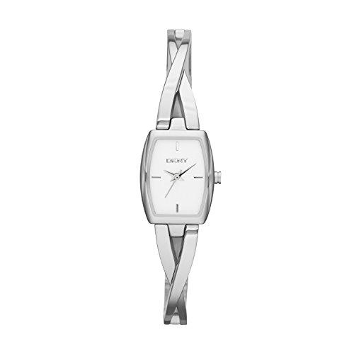 DKNY NY2234 - Reloj de cuarzo con correa de acero inoxidable para mujer, color platead