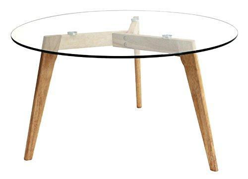 PEGANE Table Ronde en Verre - 80x45 cm