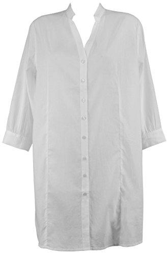 Red Point Beachwear, Damen, Zubehör, Hemd, Malta, Ünifarbene Kollektion Weiß