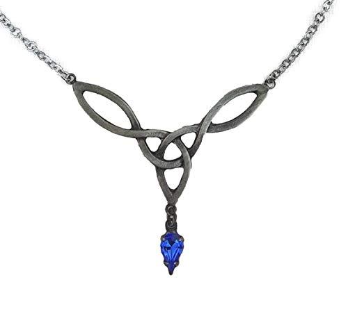 Dark Dreams Gothic Mittelalter Kelten Collier Halskette Glaskristall silberfarben Faylinn , - Kelten Kostüm