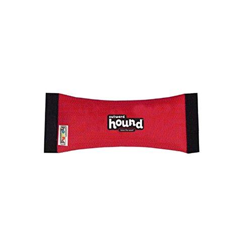 Kyjen Quietsch- / Apportierspielzeug für Hunde aus Feuerwehrschlauchmaterial, klein, Rot