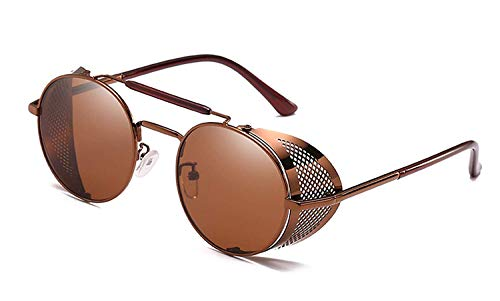 Sport-Sonnenbrillen, Vintage Sonnenbrillen, NEW Retro Steampunk Sunglasses Round Designer Steam Punk Metal Shields Sunglasses Men Women UV400 Gafas De Sol
