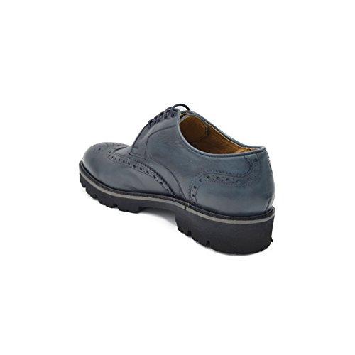 drudd  Eualphaw1701, chaussures à lacets homme Bleu