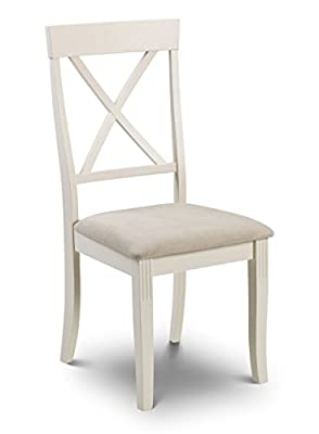 Julian Bowen Davenport Dining Chairs, Set of 2, White produced by Julian Bowen - quick delivery from UK.