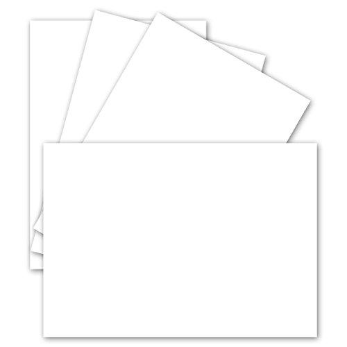 50 Stück DIN A6 Einzelkarten Matt| Hochweiss | 10,5 x 14,8 cm - 250 g/m² - sehr formstabil - für Drucker geeignet! Ideal für Grußkarten und Einladungen | GUSTAV - Karten-drucker
