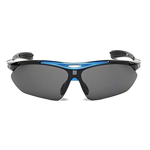 AOLVO polarisierte Sport-Sonnenbrille, UV400-Schutz, für Sport, Radfahren, Angeln, Autofahren, Ski, mit 5 modischen Gläsern, Umhängeband, Myopia-Rahmen C