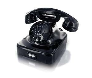 Wählscheiben-Telefon W 48 schwarz
