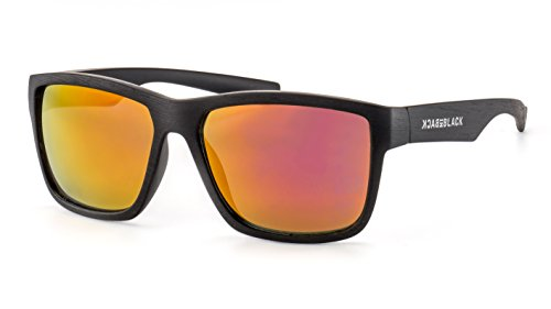 Back in Black Eckige Herren Sonnenbrille/Sportliche Sonnenbrille im Wayfarer Stil F2502128