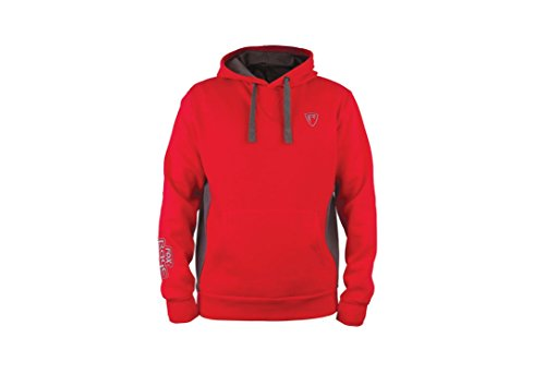 Fox Rage Ribbed Hoody Red/Grey Größe S Pullover Hoodie Pulli Kapuzenpullover Pull Over