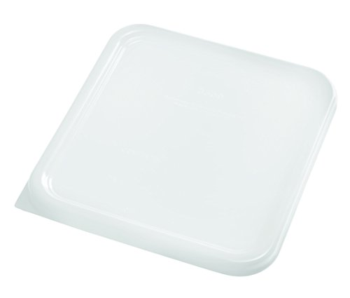 Rubbermaid Commercial Plastic Food Storage Container Lid, Square, White, 3.8 and 7.6 L (Container Rubbermaid Food)