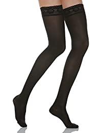 Relaxsan Microfibre 870M - 140 denier microfiber moderate support hold up stockings 18-22 mmHg