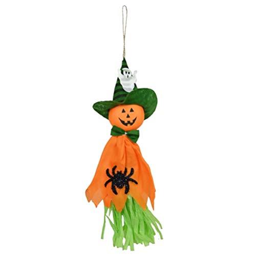 Kinder Trick Hängen Dekor Hexen Anhänger Requisiten Halloween Party Dekoration (Orange) ()