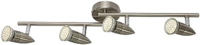Reality Leuchten LED Lampe in nickel matt, 4 x LED GU10 a 2.5 W, Länge: 2 x 30 cm R82164107 von Reality Leuchten GmbH Retail auf Lampenhans.de