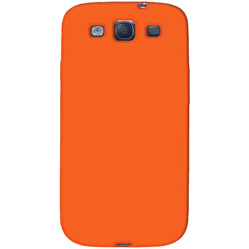 Amzer AMZ93957 Skin Jelly Case for Samsung Galaxy S3 Neo and S III GT-I9300 (Orange)  available at amazon for Rs.239