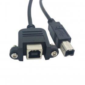 Chenyang CY Verlängerungskabel mit USB 2.0-Anschluss, Typ B, männlich zu weiblich, für Drucker / Scanner / Festplatte, mit Schrauben, 50cm (Usb Typ B Weiblich)